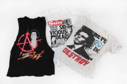 GROUP OF SID VICIOUS THEMED T-SHIRTS