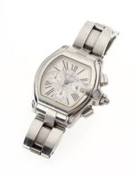 EXTRA LARGE GENTLEMAN'S STAINLESS STEEL ROADSTAR WRISTWATCH BY CARTIER