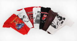GROUP OF ROLLING STONES THEMED T-SHIRTS