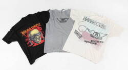 GROUP OF ROCK THEMED T-SHIRTS