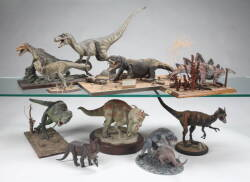GROUP TWO OF REPLICA DINOSAUR MODELS