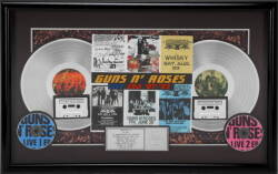 "RIAA GUNS N' ROSES LIVE ERA '87 - '93 ""PLATINUM"" RECORD AWARD"