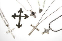 GROUP OF CRUCIFIX THEMED JEWELRY