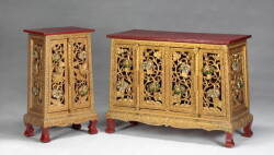 GROUP OF SOUTHEAST ASIAN GILDED FURNITURE