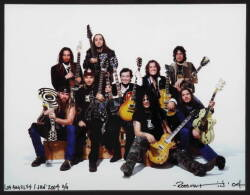 ROSS HALFIN SIGNED PHOTOGRAPH OF SLASH AND OTHER MUSICIANS