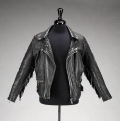 SLASH WORN LEATHER MOTORCYCLE JACKET