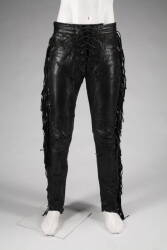 SLASH STAGE WORN BLACK LEATHER PANTS