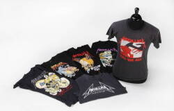 GROUP OF METALLICA THEMED T-SHIRTS