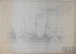DISNEYLAND ARCHITECTURAL DRAWING FANTASYLAND PIRATE SHIP