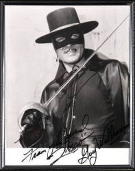 ZORRO SIGNED PHOTOGRAPH