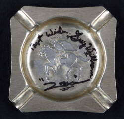 ZORRO SIGNED ASHTRAY