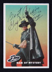 ZORRO SIGNED TRADING CARD