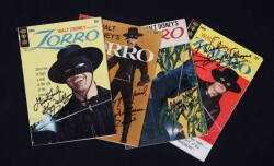 ZORRO SIGNED COMIC BOOKS