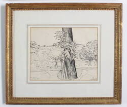 FOUR OLIVER SMITH FRAMED DRAWINGS