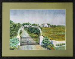 "LARRY HAGMAN OWNED ARTWORK ""THE RANCH '89"" BY N.J. NELSON"