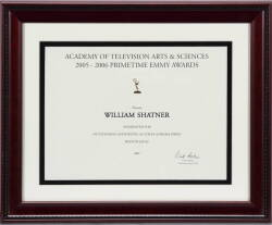 ACADEMY OF TELEVISION ARTS AND SCIENCES NOMINATION CERTIFICATE