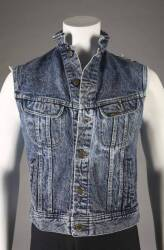 BRUCE SPRINGSTEEN ROLLING STONE AND BORN IN THE U.S.A. DENIM VEST