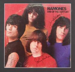 RAMONES SIGNED ALBUM COVER