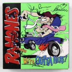 RAMONES SIGNED CD SET