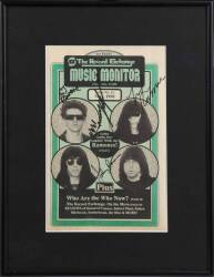 RAMONES SIGNED MUSIC MONITOR