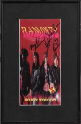 RAMONES SIGNED MONDO BIZARRO ITEMS