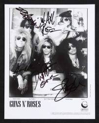 GUNS N' ROSES SIGNED PUBLICITY PHOTOGRAPH