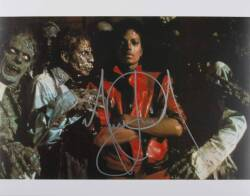 "MICHAEL JACKSON SIGNED ""THRILLER"" PHOTOGRAPH"