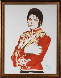 MICHAEL JACKSON SIGNED DIGITAL PRINT