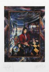"MICHAEL JACKSON SIGNED ""THE BOOK"" SERIGRAPH"