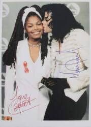 MICHAEL AND JANET JACKSON SIGNED PHOTOGRAPH