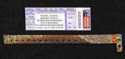 MICHAEL JACKSON MEMORIAL TICKET AND BRACELET