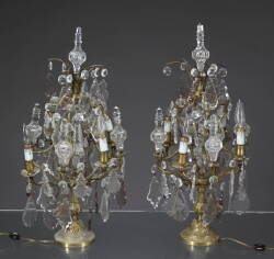 A PAIR OF CHANDELIER STYLE TABLE LAMPS