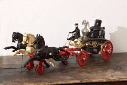 CAST IRON HORSE DRAWN PUMPER