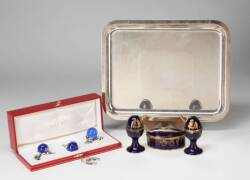 CHRISTOFLE, CARTIER, AND LIMOGES TABLE ARTICLES