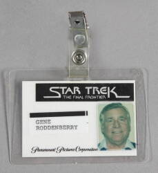 GENE RODDENBERRY ID BADGE