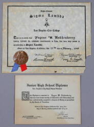 GENE RODDENBERRY CERTIFICATES