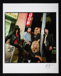 TIMOTHY WHITE COLOR PHOTOGRAPH OF GUNS N' ROSES