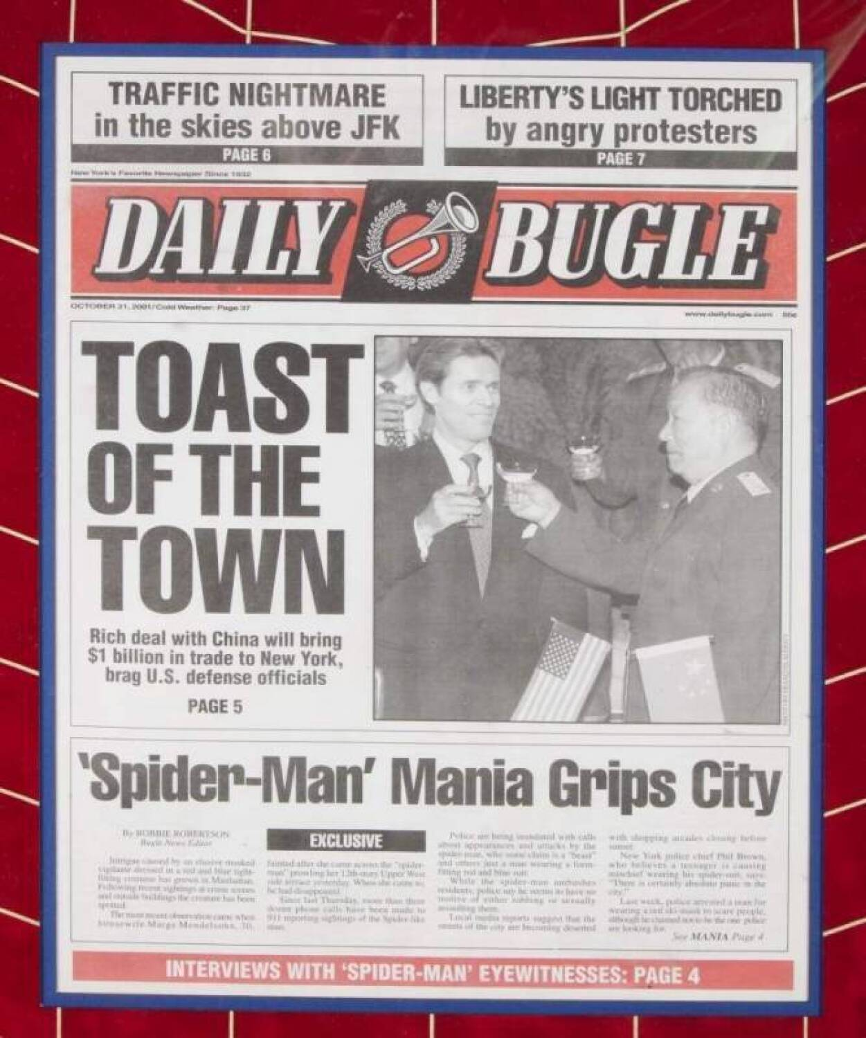 Spider Man Framed Daily Bugle Newspaper Current Price 350