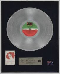"BETTE MIDLER ""PLATINUM"" RECORD AWARD"