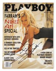 FARRAH FAWCETT SIGNED PLAYBOY MAGAZINE