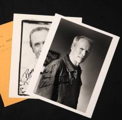 CLINT EASTWOOD AND DAVID CARRADINE SIGNED PHOTOGRAPH