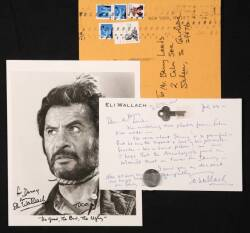 ELI WALLACH SIGNED LETTER AND PHOTOGRAPH