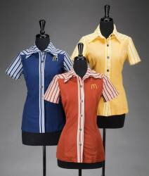 STAN HERMAN McDONALD'S UNIFORM BLOUSES