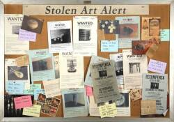 LAW & ORDER : CRIMINAL INTENT STOLEN ART NOTICE BOARD