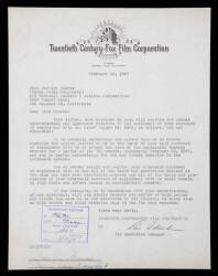 MARILYN MONROE / NORMA JEANE SIGNED CONTRACT