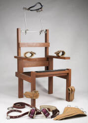 "LAW & ORDER: CRIMINAL INTENT RESTRAINT CHAIR FROM ""ABEL AND WILLING"""