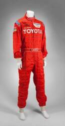 IVAN STEWART RACE WORN AND SIGNED FIRE SUIT