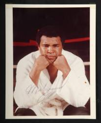 MUHAMMAD ALI SIGNED COLOR PHOTO