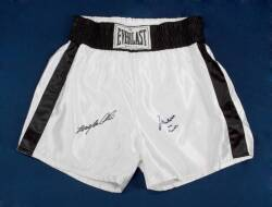 MUHAMMAD & LAILA ALI SIGNED BOXING TRUNKS