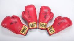 GROUP OF SIGNED BOXING GLOVES